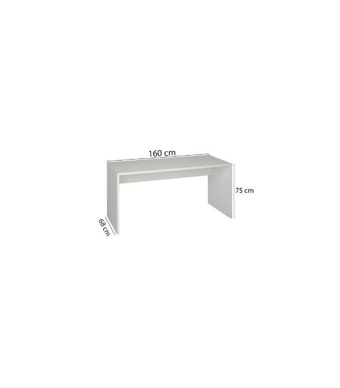 Desk White Width 160 Cm