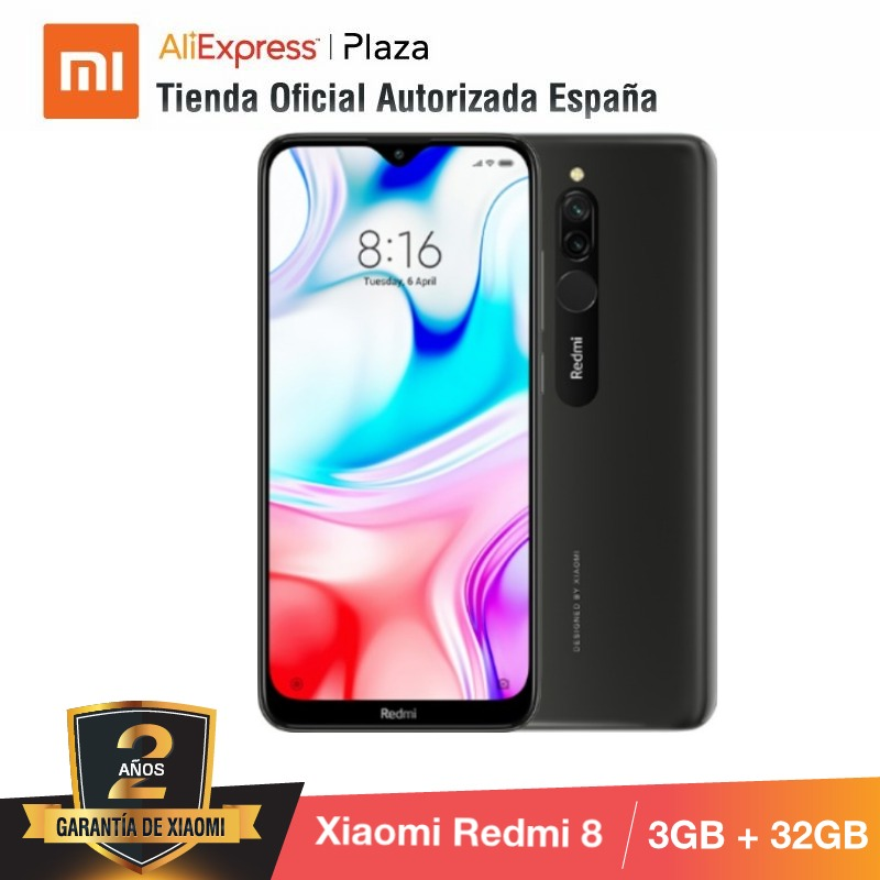 Xiaomi Redmi 8 (32GB ROM Con 3GB RAM, Cámara De 12MP, Android, Nuevo, Móvil) [Teléfono Móvil Versi
