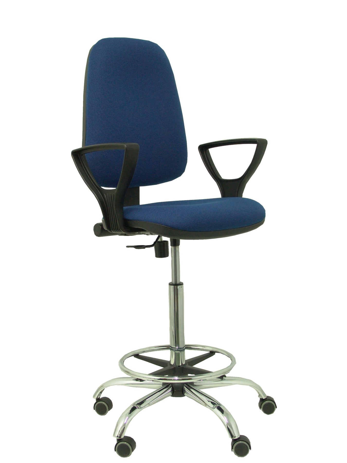 Ergonomic Stool With Mechanism Permanent Contact And Adjustable Seat Height-Seat And Back Upholstered In