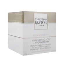 Christian Breton Hyaluronic Acid + Argan Face Cream 50 ml skin plump and soft feel.