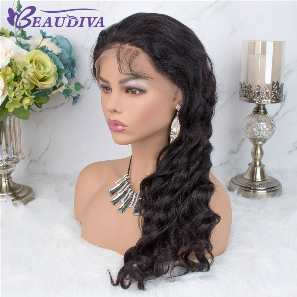 Beaudiva 360 Lace Frontal Human Hair Wig Pre Plucked With Baby Hair Loose Wave Lace Wig 360 Lace Frontal Wigs