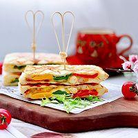 """#美食说出""""新年好""""#虾仁彩椒芝士三明治的做法图解15"""