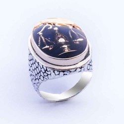 Серебряное кольцо с иконой Grand Libra