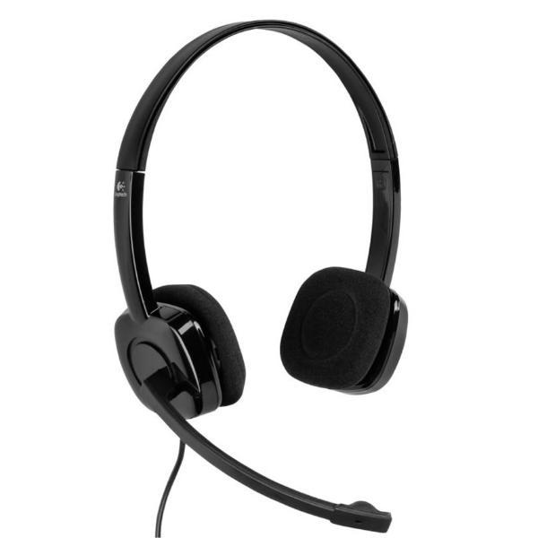 Headset Logitech Stereo H151 Volume Control Microphone Jack 3.5 P/n: 981-000589