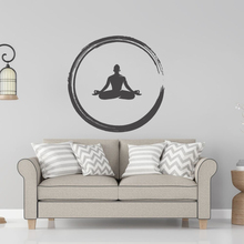 Meditation Zen Buddha Wall Sticker Buddhist Home Decoration For Yoga Rooms A0062