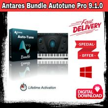 Плагин Antares Bundle Autotune Pro 9.1.0 Rev.2 VST VST3 AAX, плагин для создания эффектов fl studio ableton live logic pro, отличный вокал