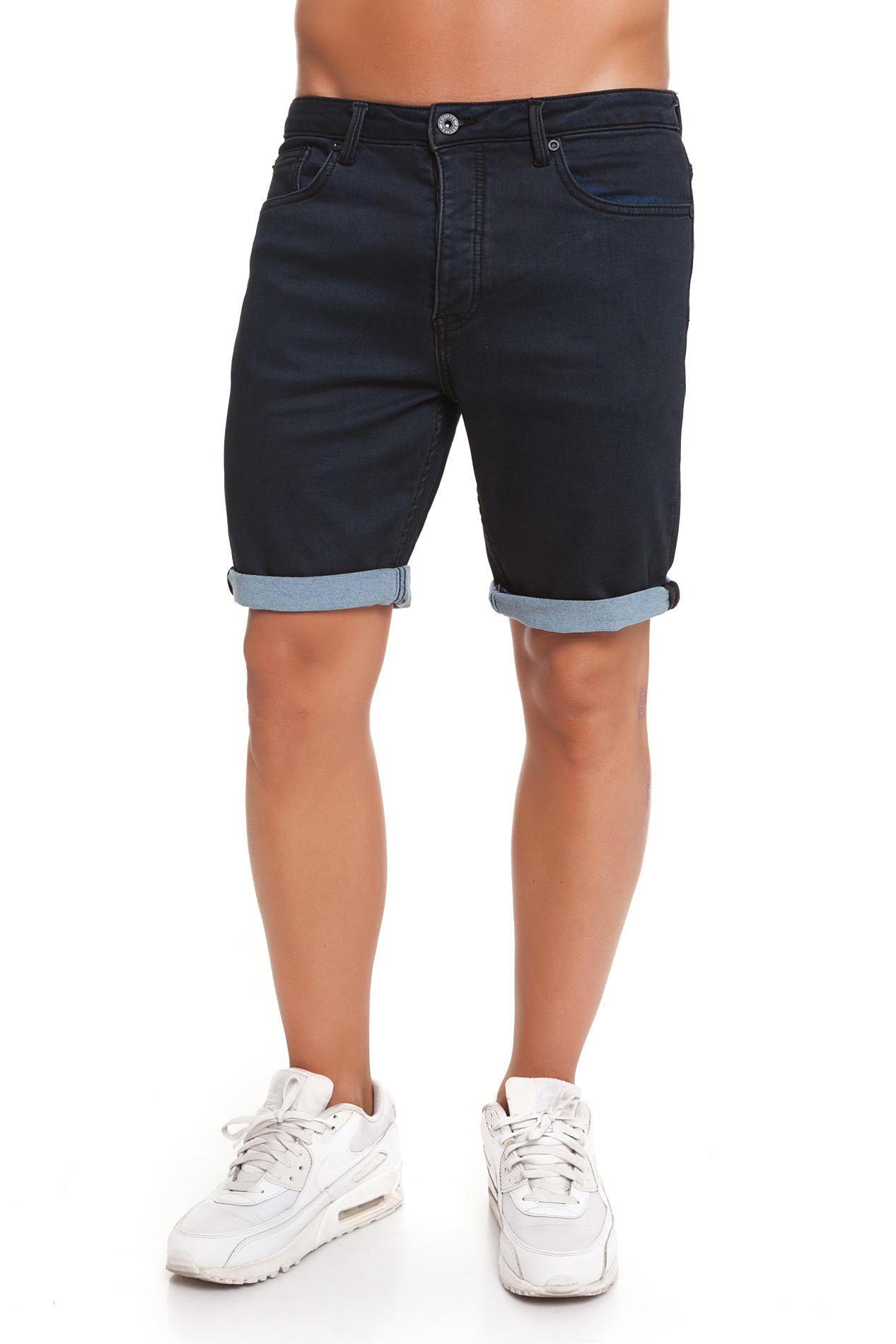 CR7 Trousers Short For Men Dark Blue Casual Causal Vaquros Short Short Wax CRD046B