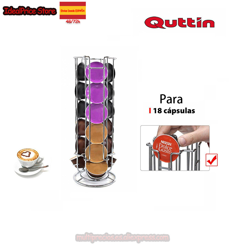 Quttin®Soporte Para Capsule Compatible For Dolce Gusto Coffee Capsule (18 PCs)