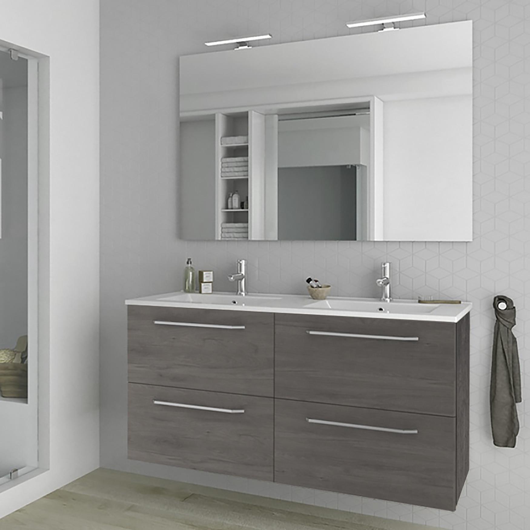 Modern Double Bathroom Vanity Cabinet