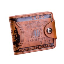 Men's Wallet Short Foldable Small Wallets Leather Wallet Luxury Coin Purse Hundred Dollars Card Holder Mini Wallets For Men 2020