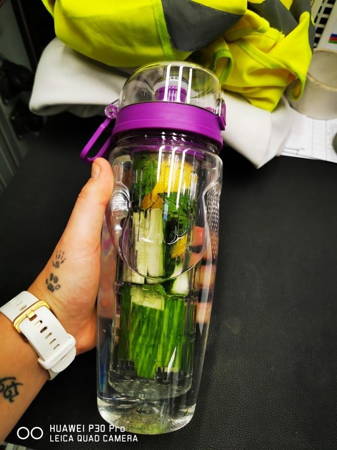 BAISPO 32oz 900ml BPA Free Fruit Infuser Juice Shaker Sports Lemon Water Bottle Tour hiking Portable Climbing Camp Bottles-in Water Bottles from Home & Garden on AliExpress