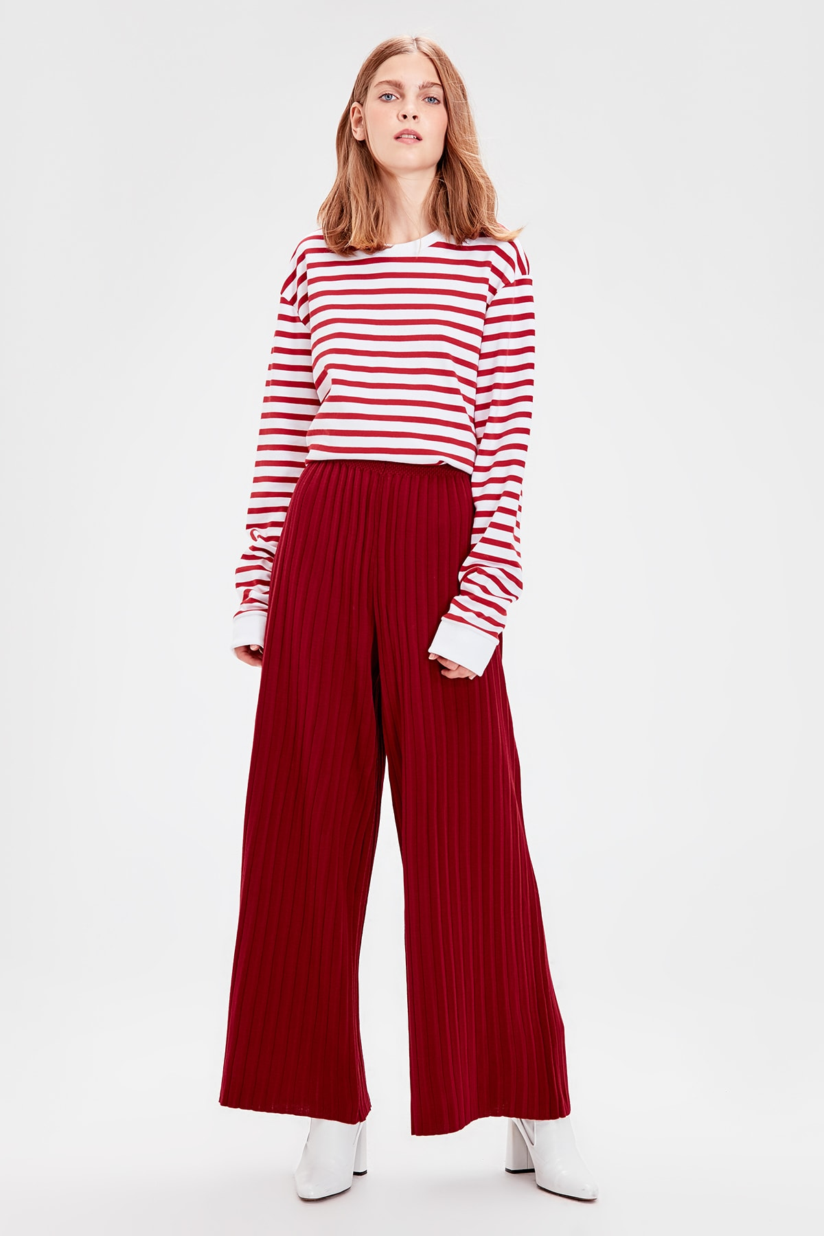 Trendyol Burgundy Sweater Pants TWOAW20PL0136