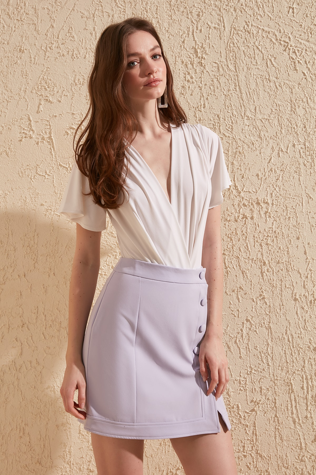 Trendyol Button Detail Skirt TWOSS20ET0178