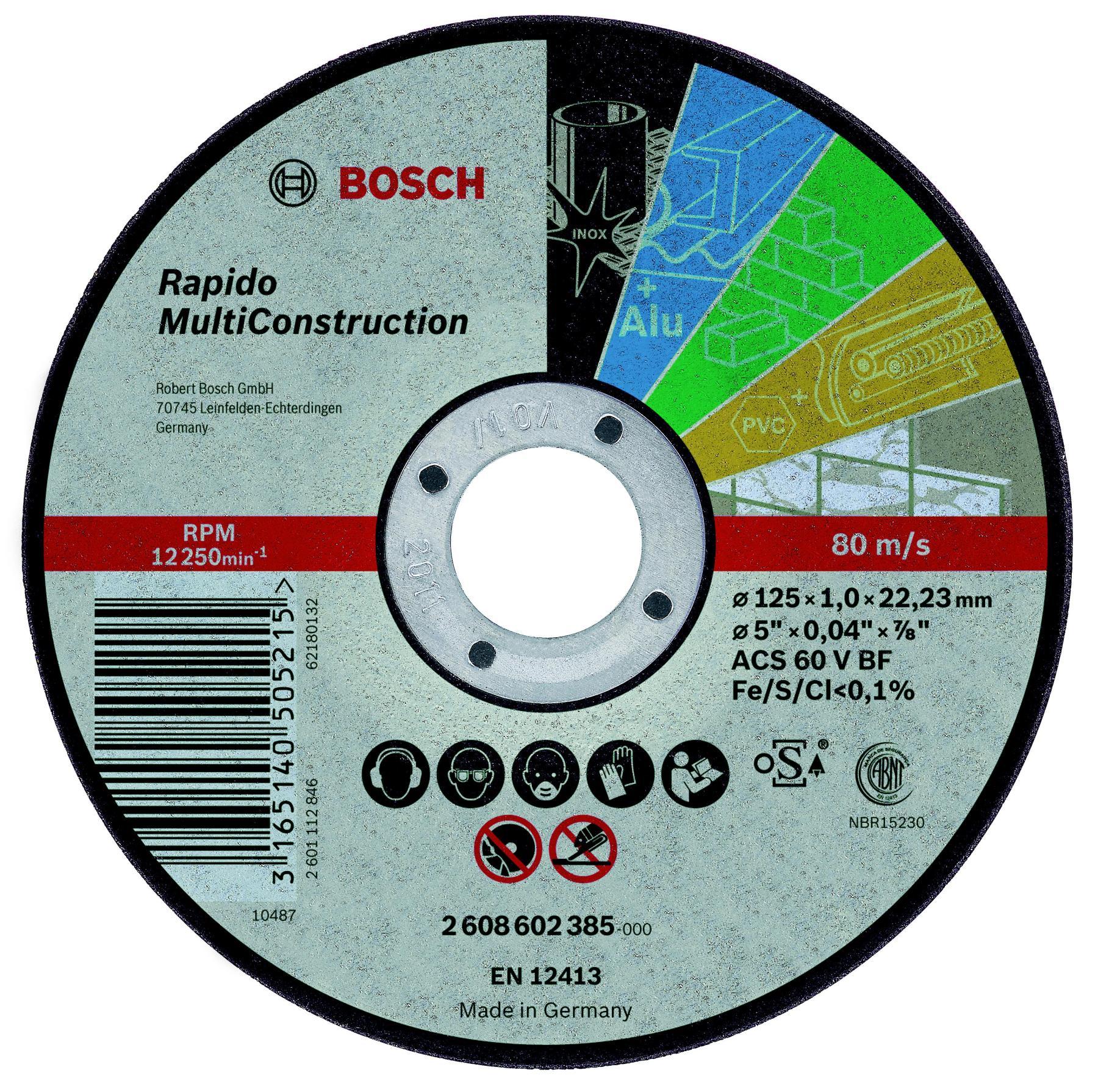 Circle Cutting BOSCH 125х1х22 2608602385