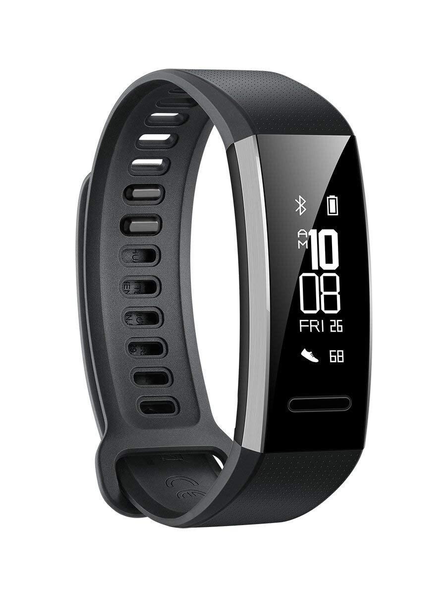 Orologio Huawei Fascia 2 Pro bracciale a catena per il fitness per il mobile Huawei (GPS integrato, sistema di Firstbeat). Colore Nero (Nero).