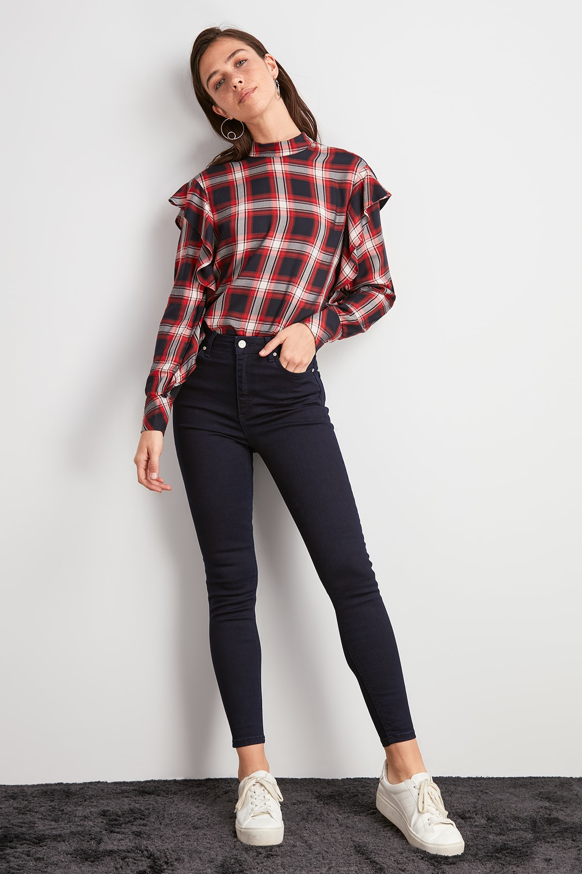Trendyol High Waist Skinny Jeans TWOAW20JE0454