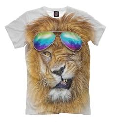 T-Shirt da uomo leone in occhiali