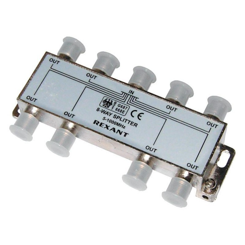 Divider 8 Outputs 5-1000 MHz CADENA. Splitter On 8. Used For TV Signal Division On 8