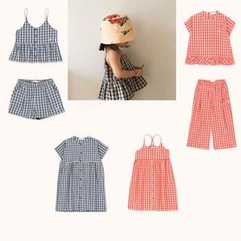 В наличии, лето 2020, новинка, серия TC, костюм для девочек, платье, футболка с короткими рукавами, костюм из двух предметов
