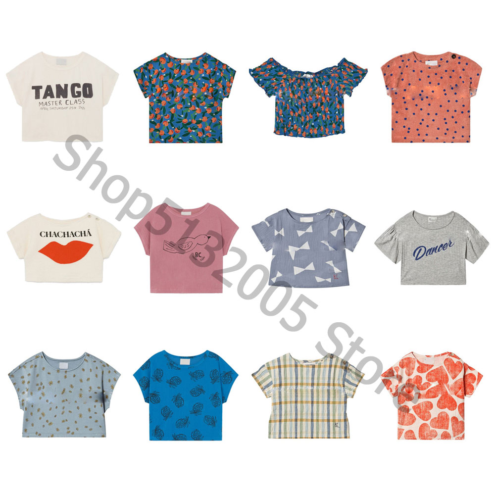 IN STCOK 2020 Short-sleeved Breathable T-shirt Summer New Short-sleeved T-shirt Bc Girls Printed Short Tops T-shirt