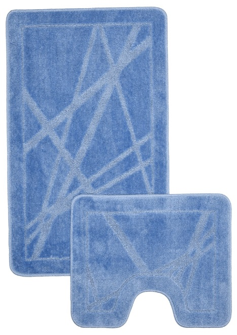 "Набор ковриков для ванной Shahintex ""РР"", 60х100см и 60х50 см, голубой Коврики для ванной    АлиЭкспресс"