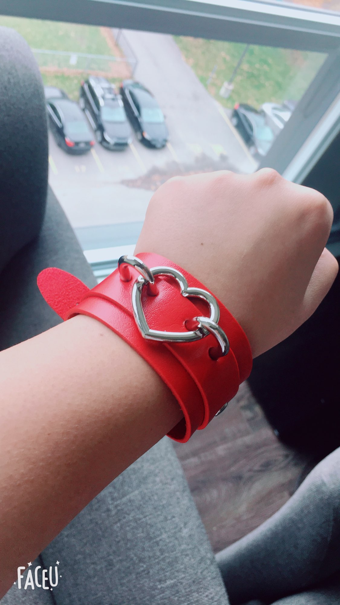 Wide Wristband with Heart photo review