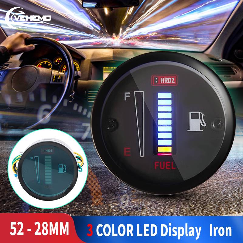Car Fuel Gauge LED Fuel Level Meter Gauge Fuel Level Sensor 12V Motorcycle Automobile Aluminum Alloy Car Styling For Yamaha