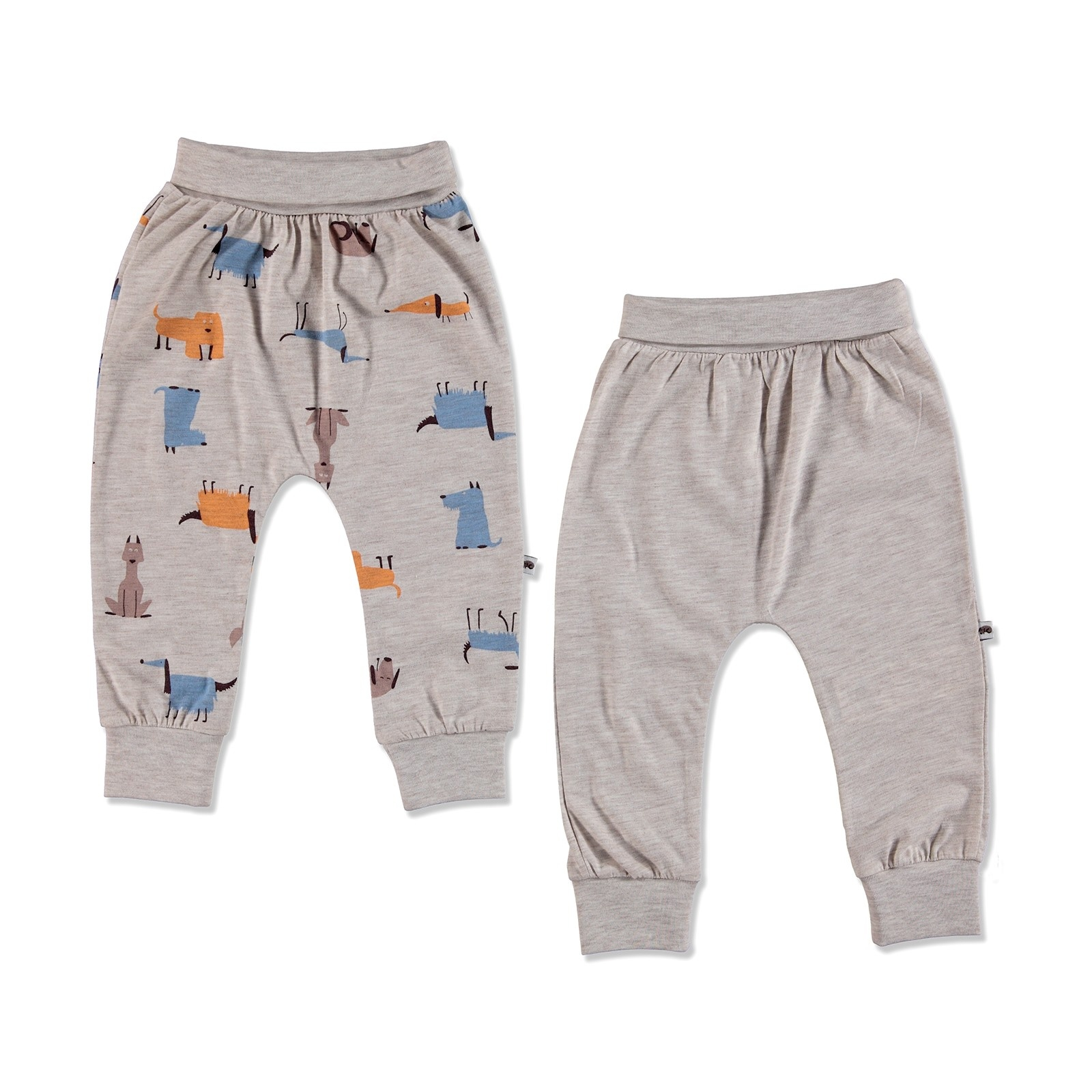 Ebebek Carmin Baby Summer Boy Dog Printed Supreme Rib Trouser 2 Pcs