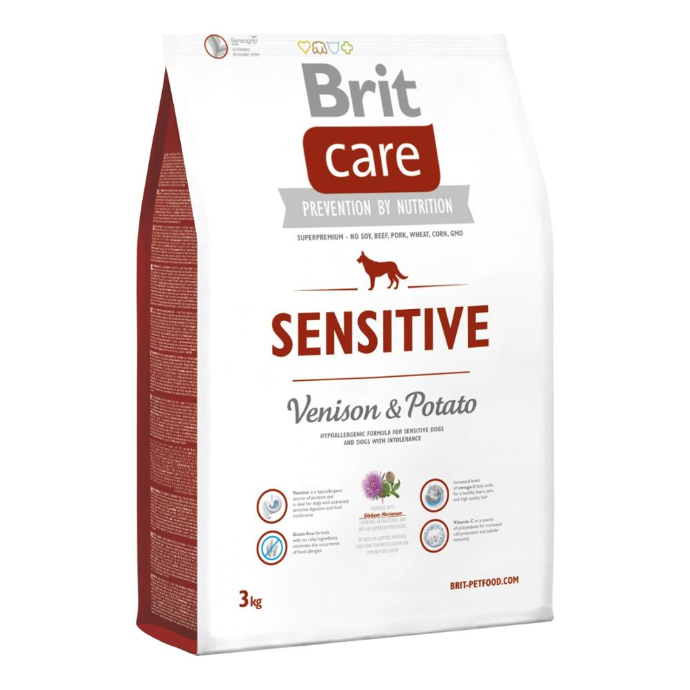 Brit Care Hypoallergenic Sensitive Dog Food With Venison And Potato 3 Kg Food Healthy Growth Feeding Pet
