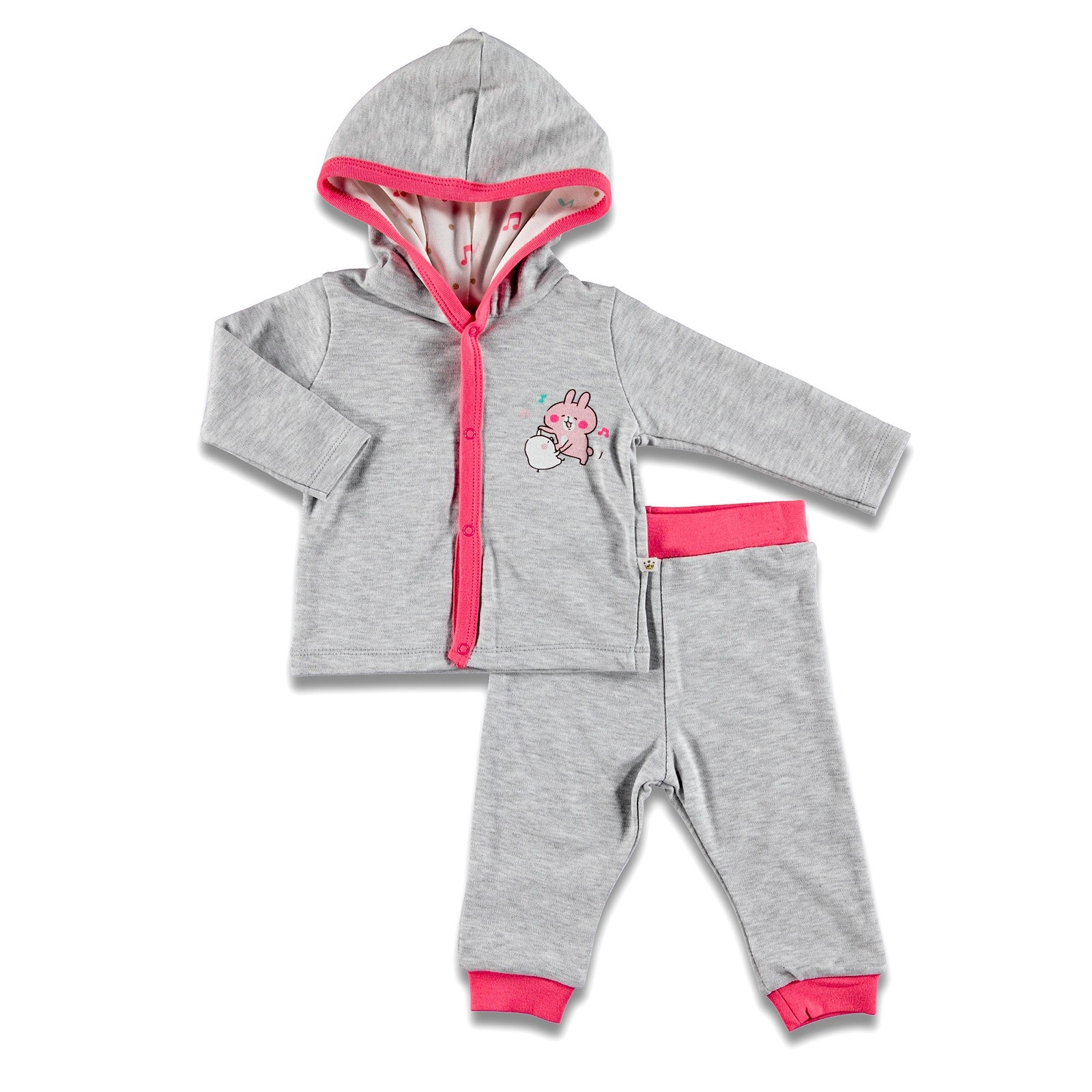 Ebebek For My Baby Yummy Hoodie Cardigan Pants 2 Pcs Set
