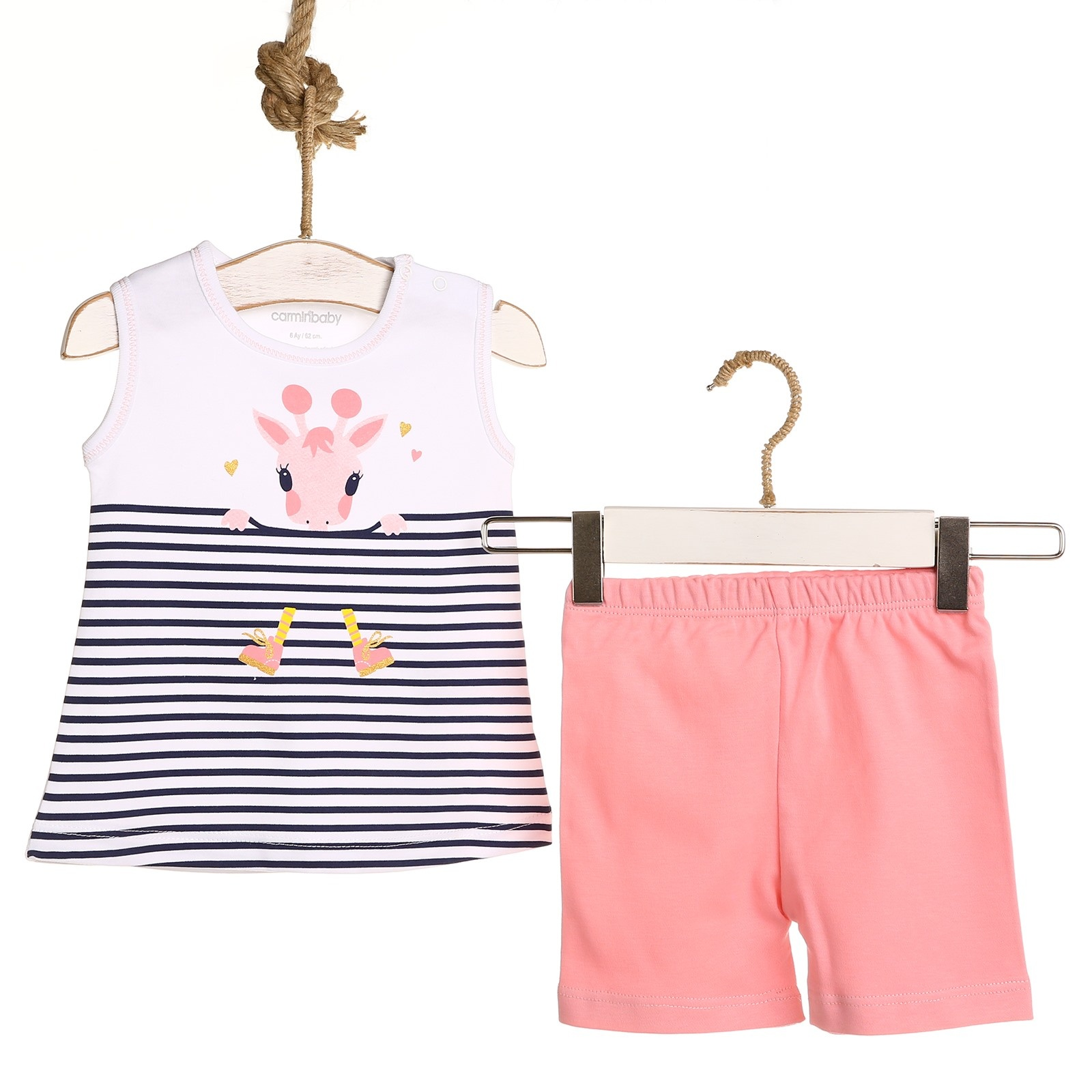 Ebebek Carmin Baby Striped Girl Athlete Short