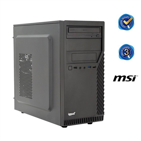Desktop PC Iggual PSIPCH40 I7-8700 8 GB RAM Black