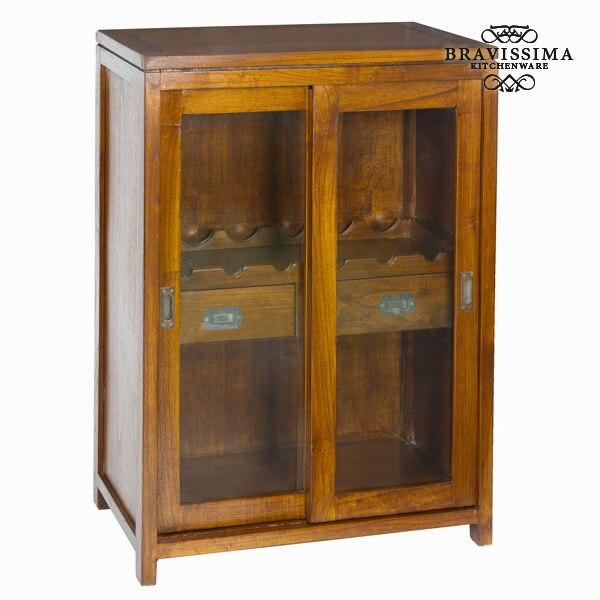 Bottle Rack Mindi Wood (100 X 70 X 45 Cm) - Serious Line Collection By Bravissima Kitchen