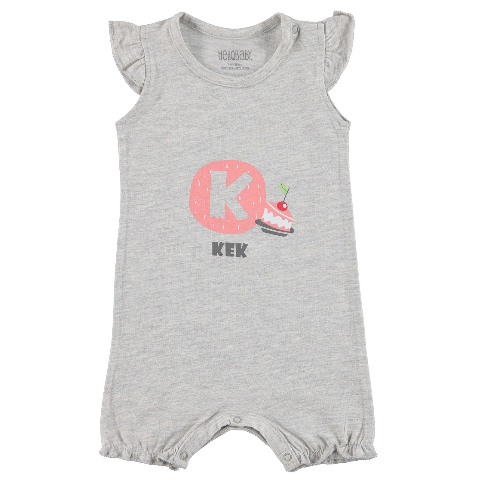 Ebebek HelloBaby Summer Baby Girl Ruffled Jumpsuit