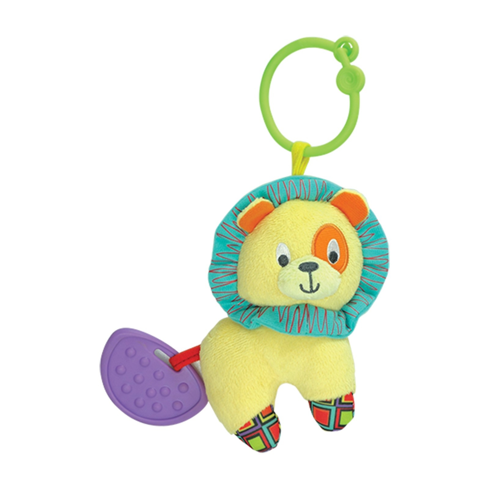 Ebebek Winfun Plush Lion Rattle Teether
