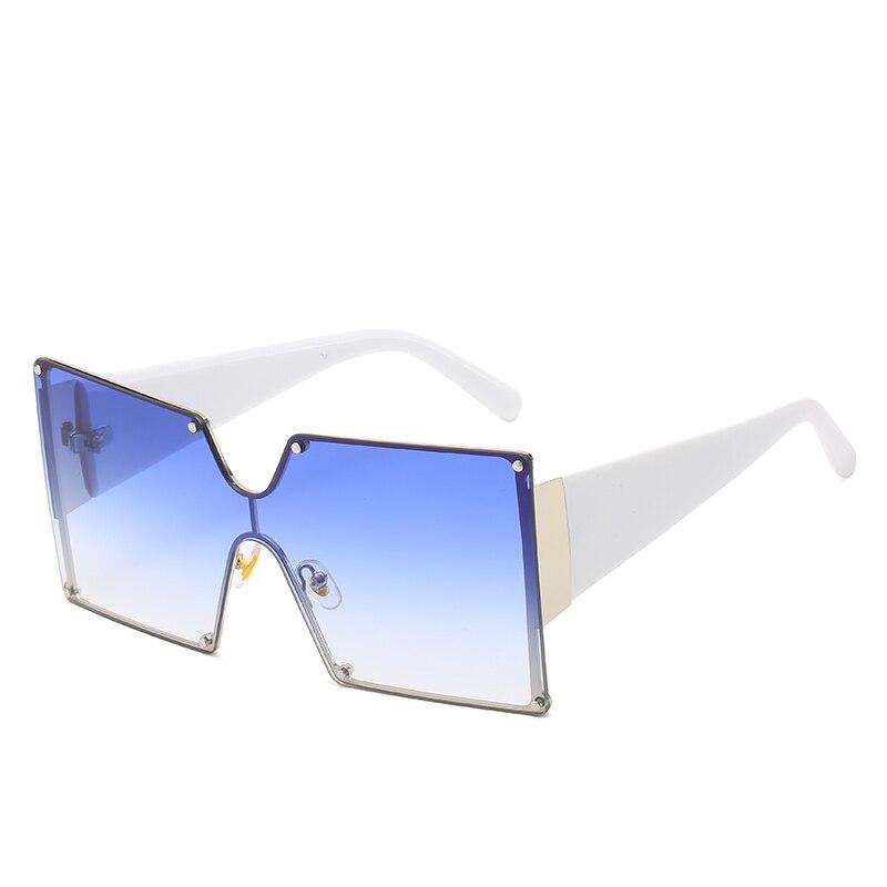 Модные негабаритные синие желтые градиентные солнцезащитные очки для женщин FC оптика фирменный дизайн красные металлические женские