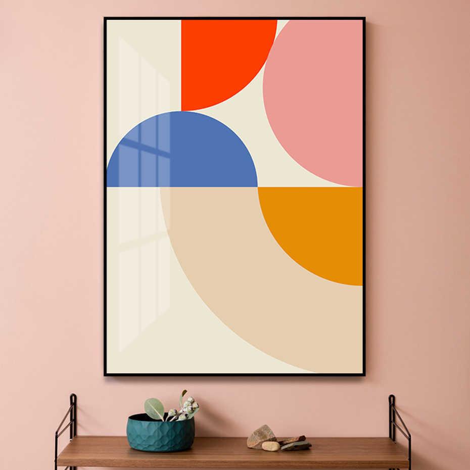 colour blocks wall art minimalist geometric gift Abstract modern print