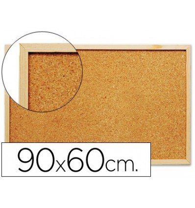 CORK BOARD Q-CONNECT 90X60 CM 'S MARCO WOOD