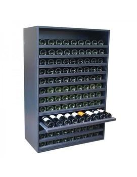 Botellero Aparador 108 Botellas Negro недорого