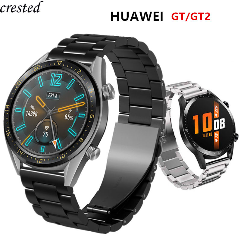 Huawei Watch GT 2 Strap For Samsung Galaxy Watch 46mm/42mm/Active 2/Gear S3 Frontier Band 22/20mm Stainless Steel Bracelet 46 42