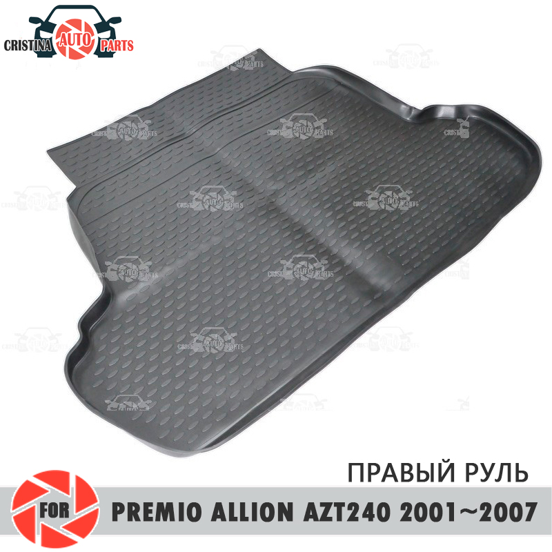 Tapis de coffre pour Toyota Premio aillon AZT240 2001-2007 tapis de sol de coffre antidérapant polyuréthane protection contre la saleté coffre style de voiture