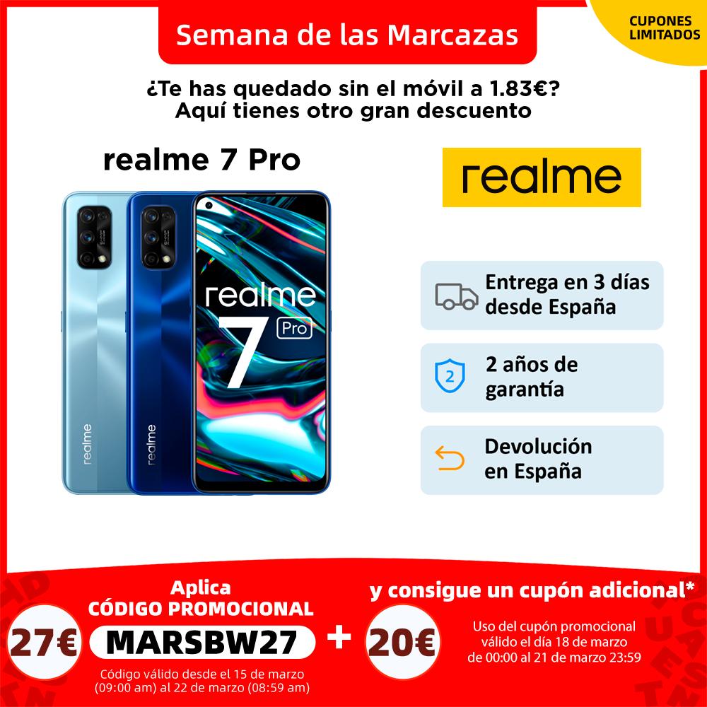 """Realme 7 Pro y Realme 7   smartphone 6.4"""", 64MP, selfie 32MP, carga rápida 65W   teléfono móvil 6.5"""", 48MP, selfie 16MP, 30W Teléfonos móviles  - AliExpress"""