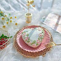 """#美食说出""""新年好""""#爱心彩绘酸奶蛋糕的做法图解12"""