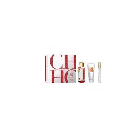 CAROLINA HERRERA CH L UAE EDT 100ML SPRAY + PERFUMED BODY LOTION 100ML + MINIATURE 10ML SPRAY