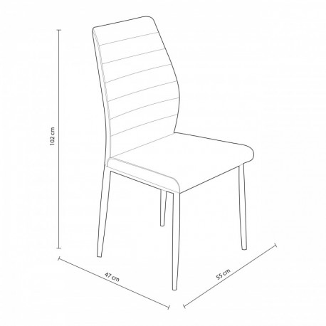 Pack Of 4 Chairs Sigma For Salon Or Kitchen Various Colors To Choose.