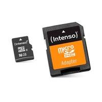 Карта памяти Micro SD с адаптером INTENSO 3413470 16 GB Class 10