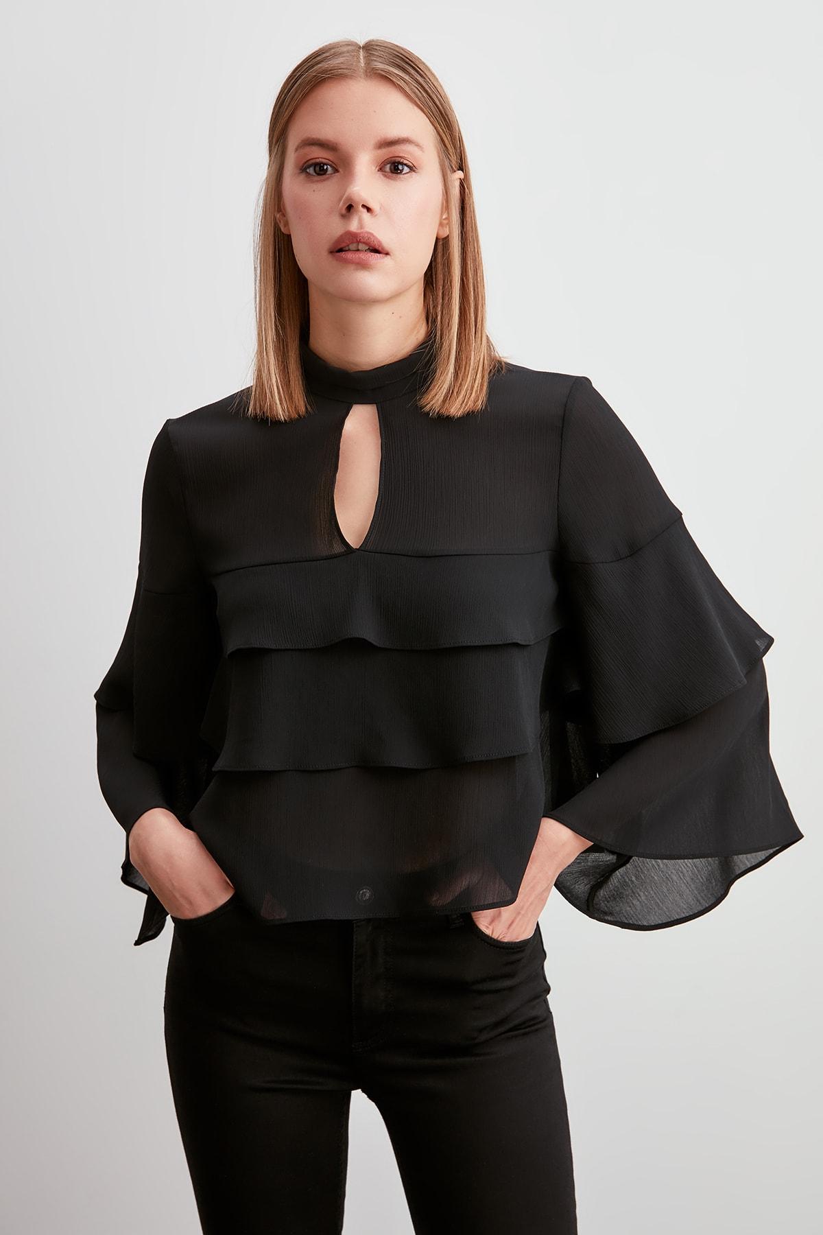 Trendyol Ruffle Detail Bluz TWOSS20BZ0077
