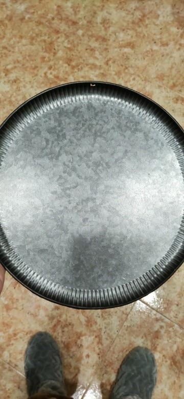 Retro Wrought Iron Round Tray photo review