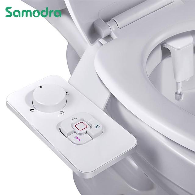 Samodra Toilet Bidet Shower Ultra-thin Bidet Toilet Seat Attachment Non-electric Bidet sprayer Dual Nozzles Frontal & Rear Wash 1