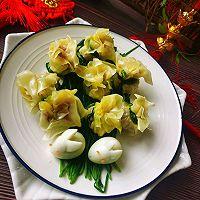 #太太乐鲜鸡汁芝麻香油#鸡汁兰花的做法图解10
